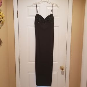 JS Boutique Black Beaded Maxi Dress Size 8